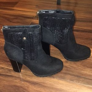 Juicy Couture Cable Knit Lupita Ankle Boots